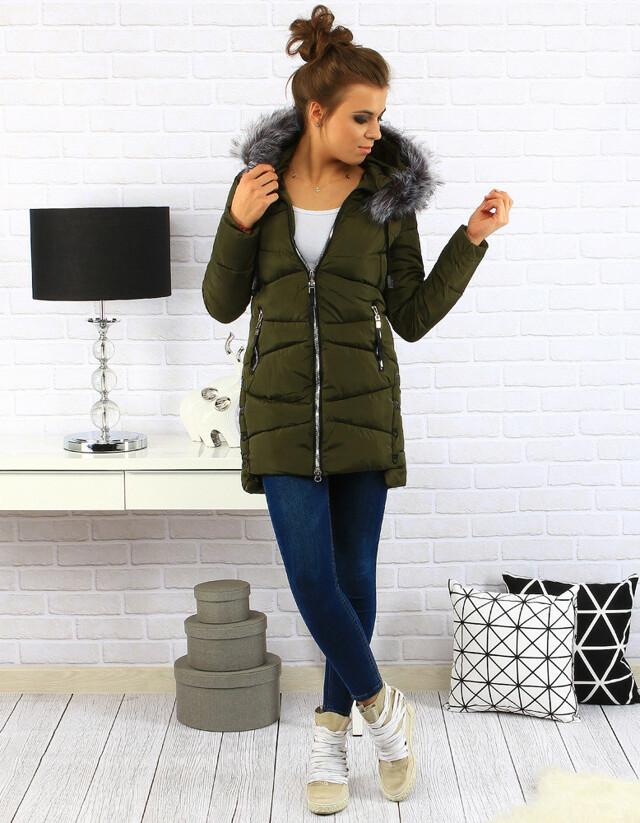 Dámská prošívaná bunda s kapucí (ty0136) - Pine House