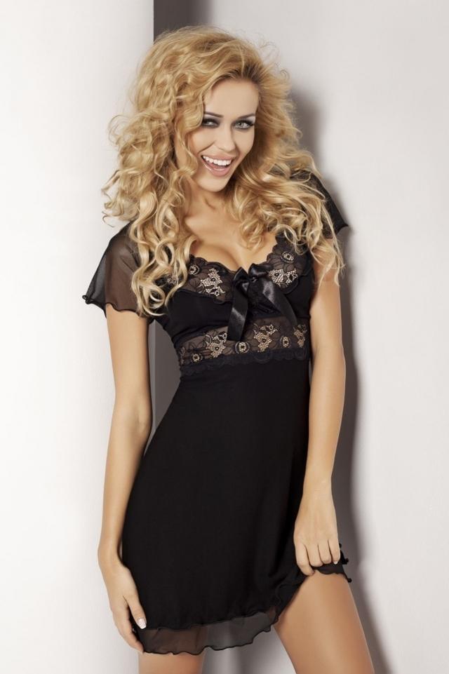 Dámská košilka Paulina black - M - černá