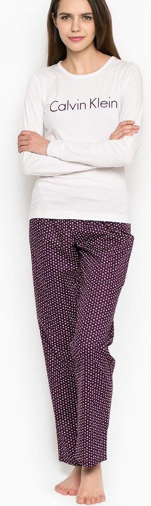 Dámské pyžamo-set QS5361E - Calvin Klein - XS - fialová