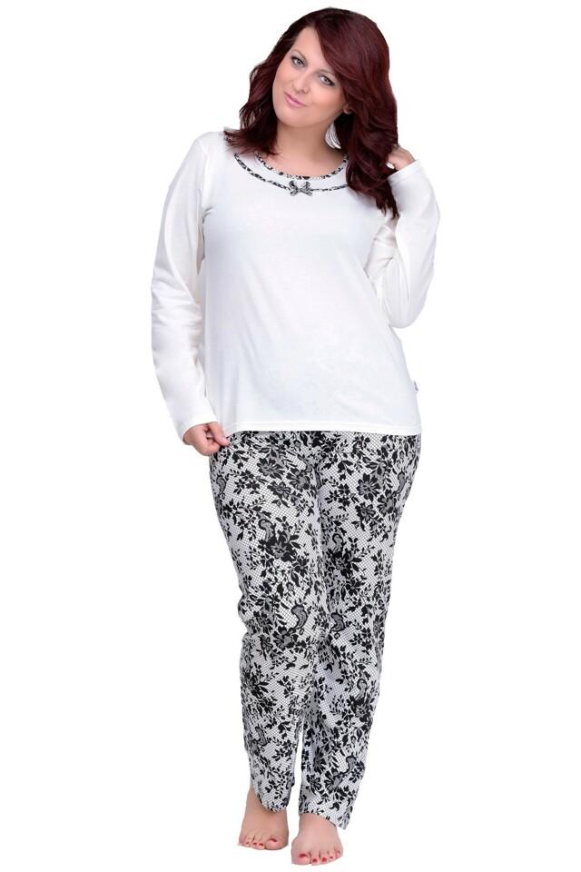 Dlouhé dámské pyžamo Ismena nadměrná velikost - XXL