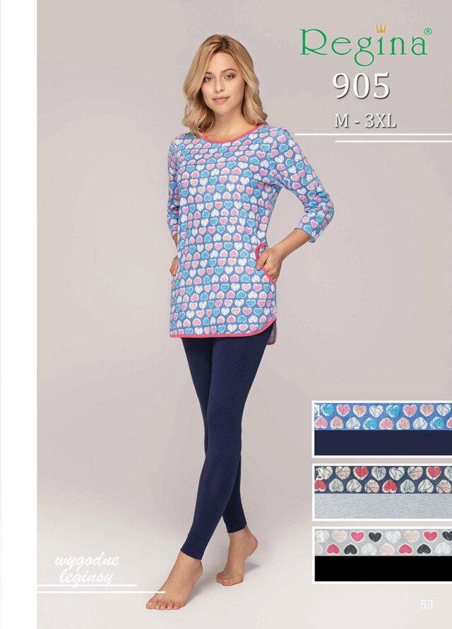 Dámské pyžamo 905 BIG - šedá - 3XL