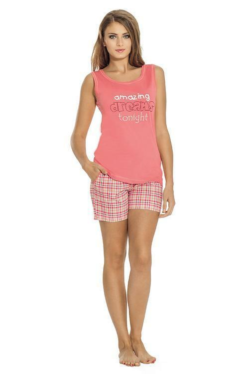 Dámské pyžamo Luna 640-1 - XL - růžová