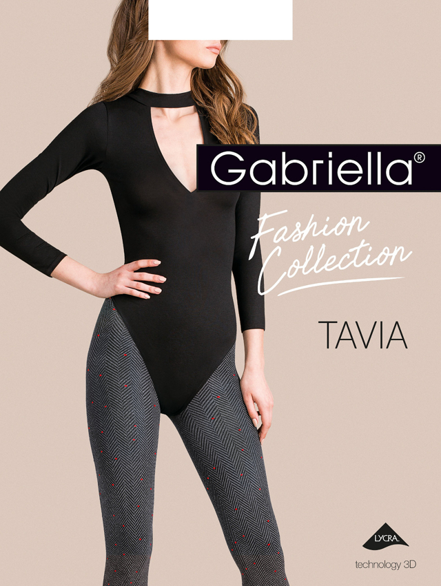 Dámské punčochové kalhoty Gabriella Tavia 3D 444 5XL - 5-XL - žíhaná