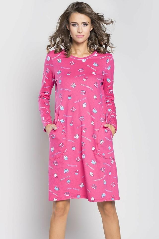 Dámská noční košile Italian Fashion Appetito - XL - amarant