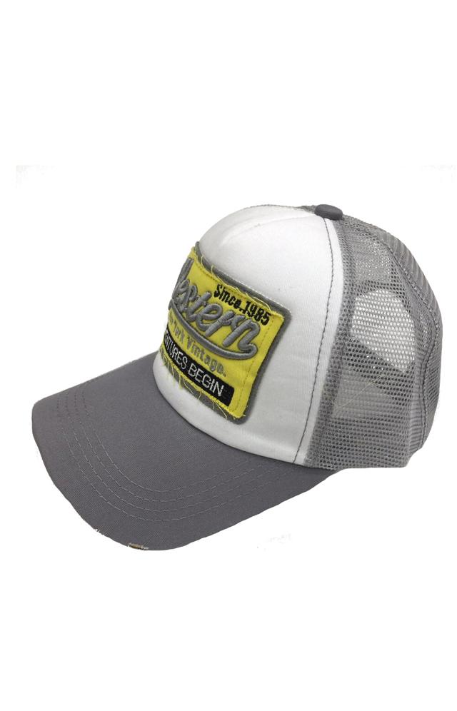Čepice s kšiltem Bruno Rossi CZ-1 - univerzální - šedá