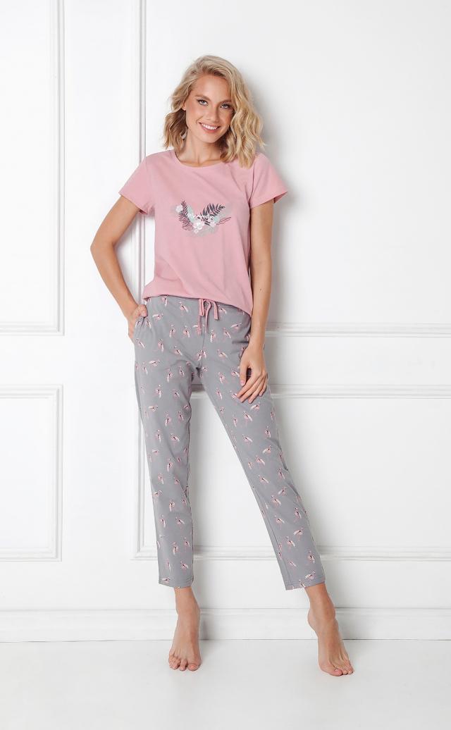 Dámské pyžamo Aruelle Felicia Long kr/r XS-2XL - XXL