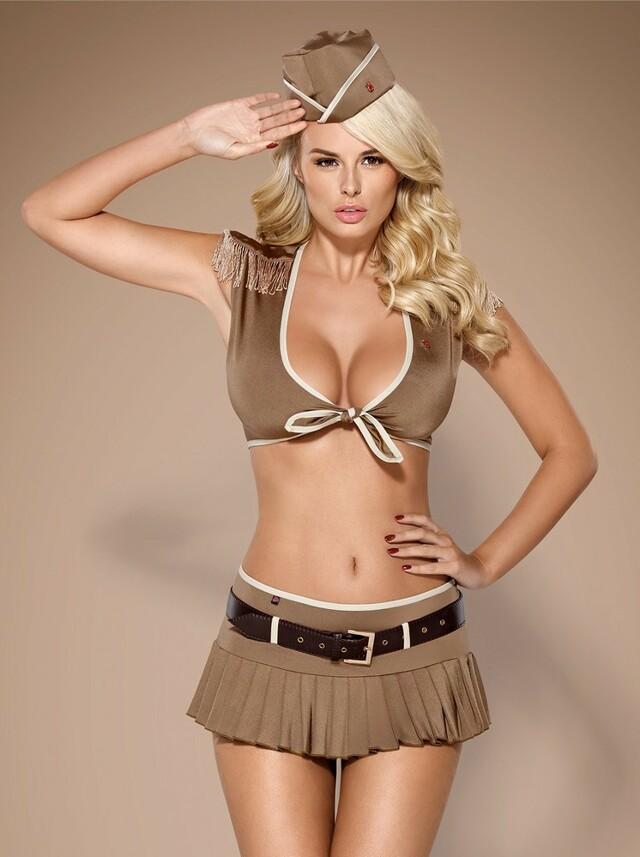 Sexy kostým 814-CST - Obsessive - S/M - hnědá