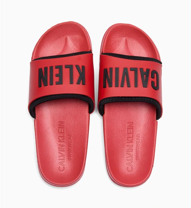 Pantofle KW0KW00779-655 červená - Calvin Klein - 41/42 - červená
