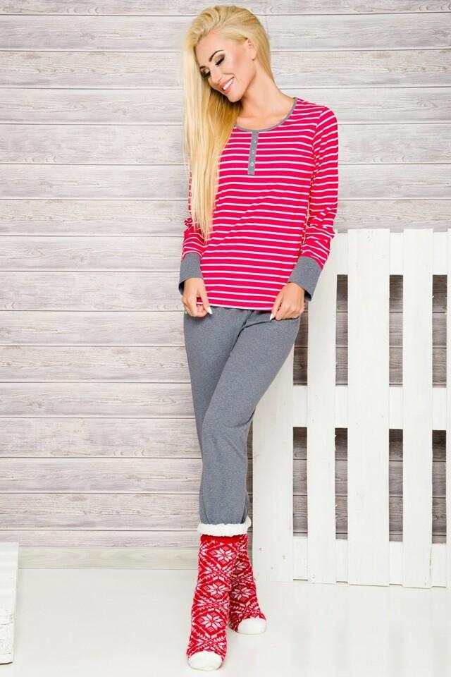 Dámské pyžamo Lisa 2120 red - M - červená