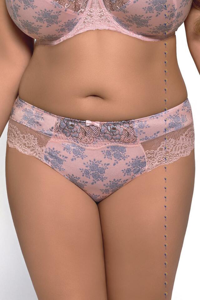 Klasické kalhotky Kalhotky Gorsenia K273 Manuelle - S - růžová