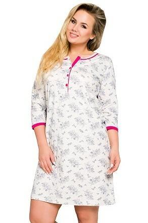Noční košile pro plnoštíhlé Fabia s knoflíčky