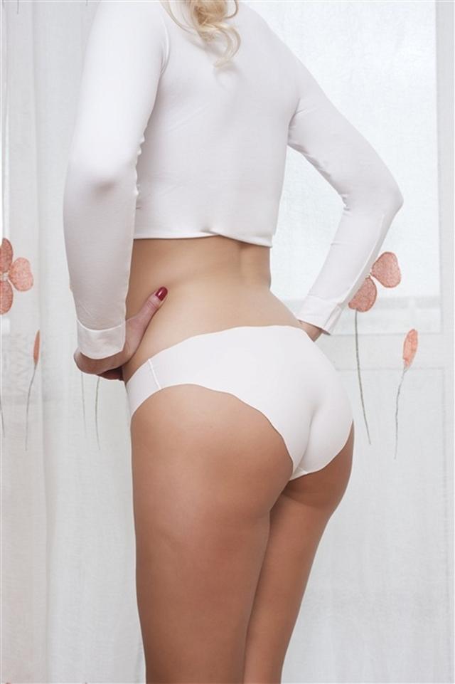 Kalhotky střižené laserem 03-60 - HANNA STYLE - S/M - ČERNÁ