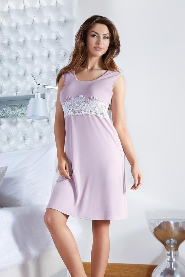 Dámská noční košile Roza - Babella - S - staro růžová
