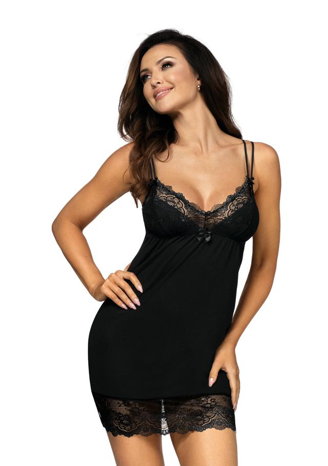 Dámská noční košilka Donna Pamela - 36 - černá