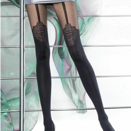 Dámské punčochové kalhoty Malaga 5588 - Fiore - 4-L - černá