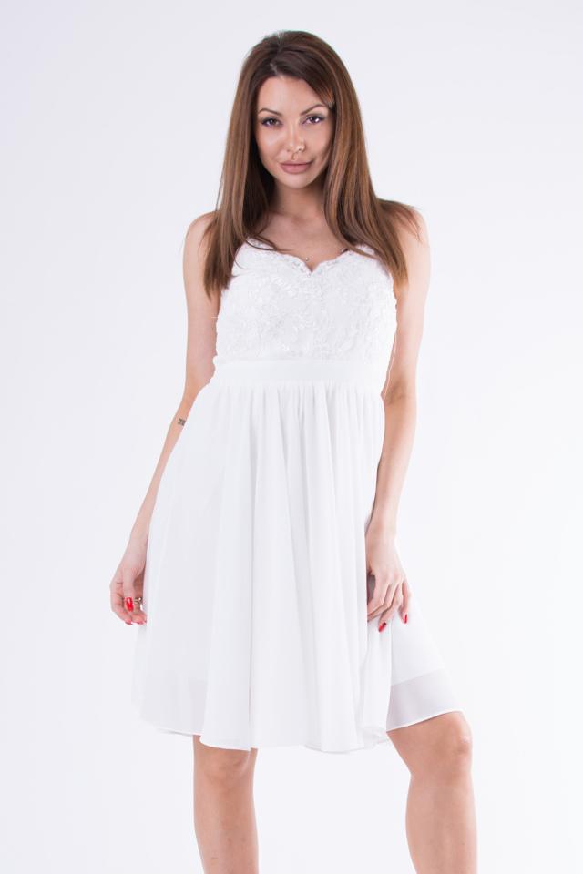 132bed093dbf Bílé šaty EVA LOLA 58007-4 - L
