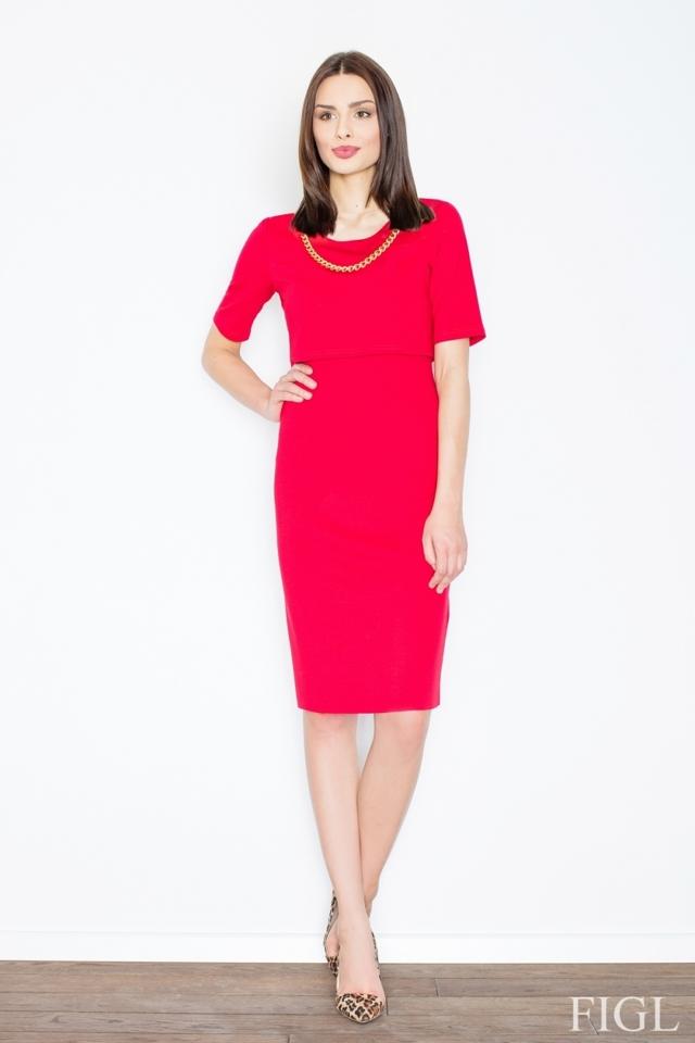 Dámské šaty M446 red - L - červená