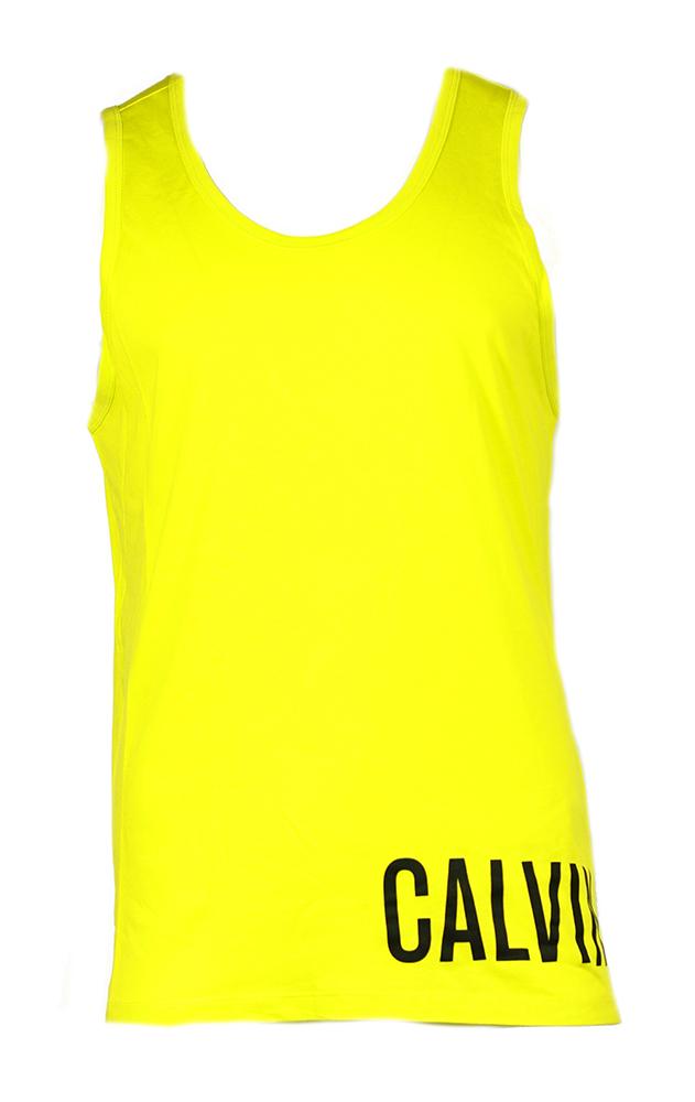 Pánské tílko KM0KM00204-311 žlutá - Calvin Klein