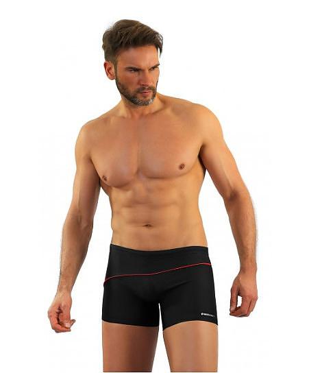 Pánské plavky - boxerky Sesto Senso 314 M-2XL - M - černá