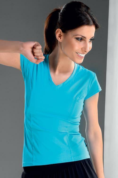 Dámské tričko Gracia turquoise - XL - tyrkysová