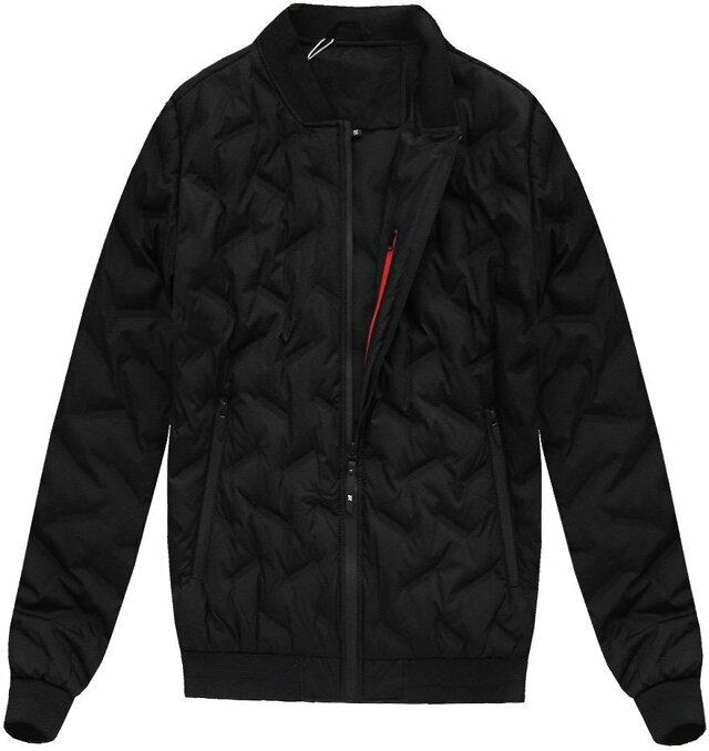 6aeb924a4 Černá pánská bunda s přírodní vycpávkou (X5025X)