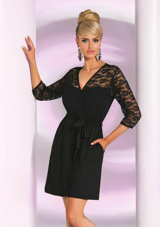 Dámský župan Donna Linda - XXL - černá