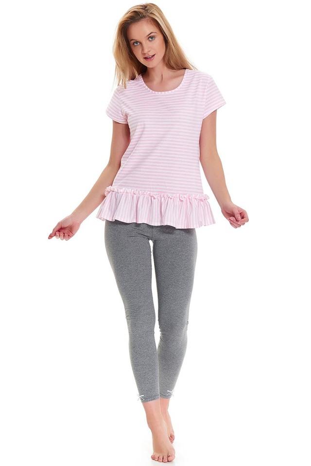 Dámské pyžamo Dn-nightwear PM.9443 - L - sweet pink