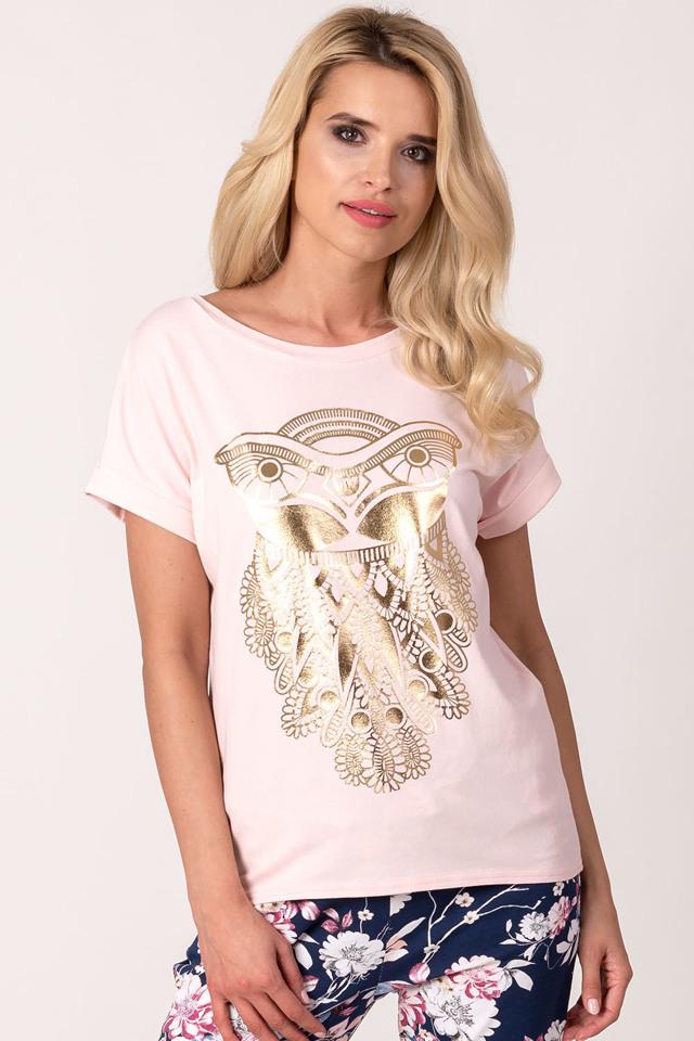 79d22788b5ec Dámské tričko Avaro BL-1655 - UNI - pudrově růžová