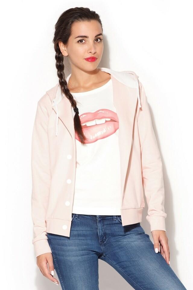 Dámská mikina K190 pink - XL - růžová