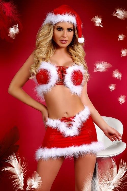 Vánoční kostým Christmas Lust - L/XL - červeno-bílá