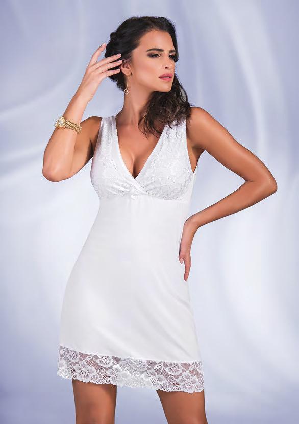 Noční košilka Donna Amelia - L - bílá