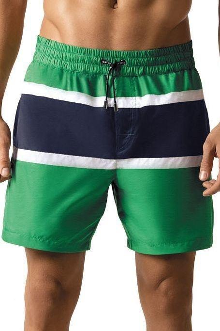 Pánské šortkové plavky Tom zelené - S 5d58b9d935