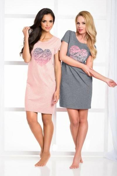 Dámská noční košile Amore 933 - Taro - L - sv.růžová