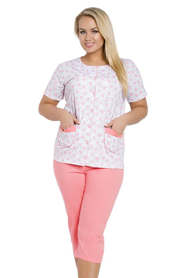 Dámské pyžamo Wera růžové nadměrná velikost - XXL