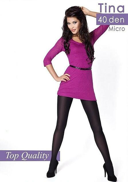 Punčochové kalhoty Mona Tina 40 den 6-XXL - 6-XXL - odstín hnědé