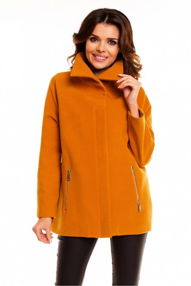 Dámský krátký kabát- bunda model 63542 - Cabba - 44 - černá