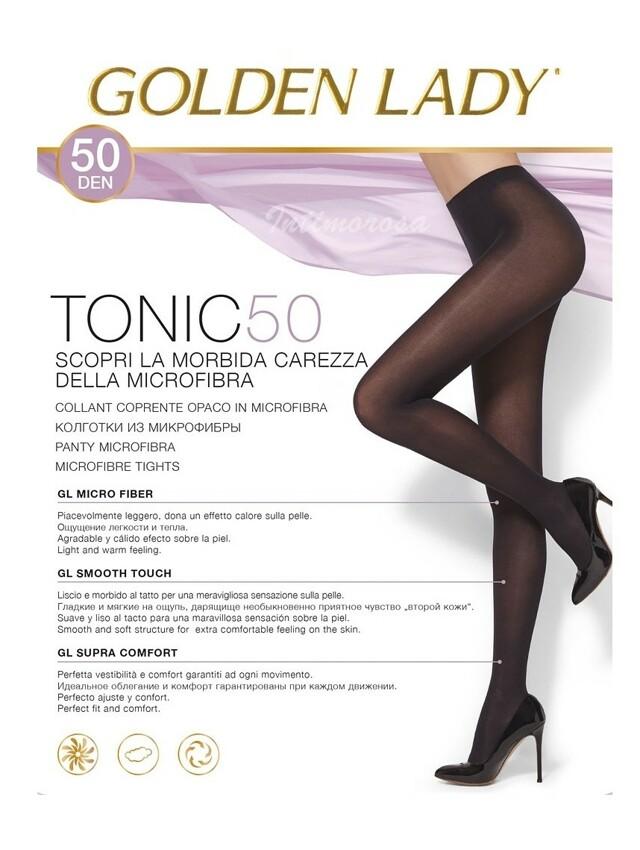 Dámské punčochové kalhoty Golden Lady Tonic 50 den - 2-S - odstín hnědé
