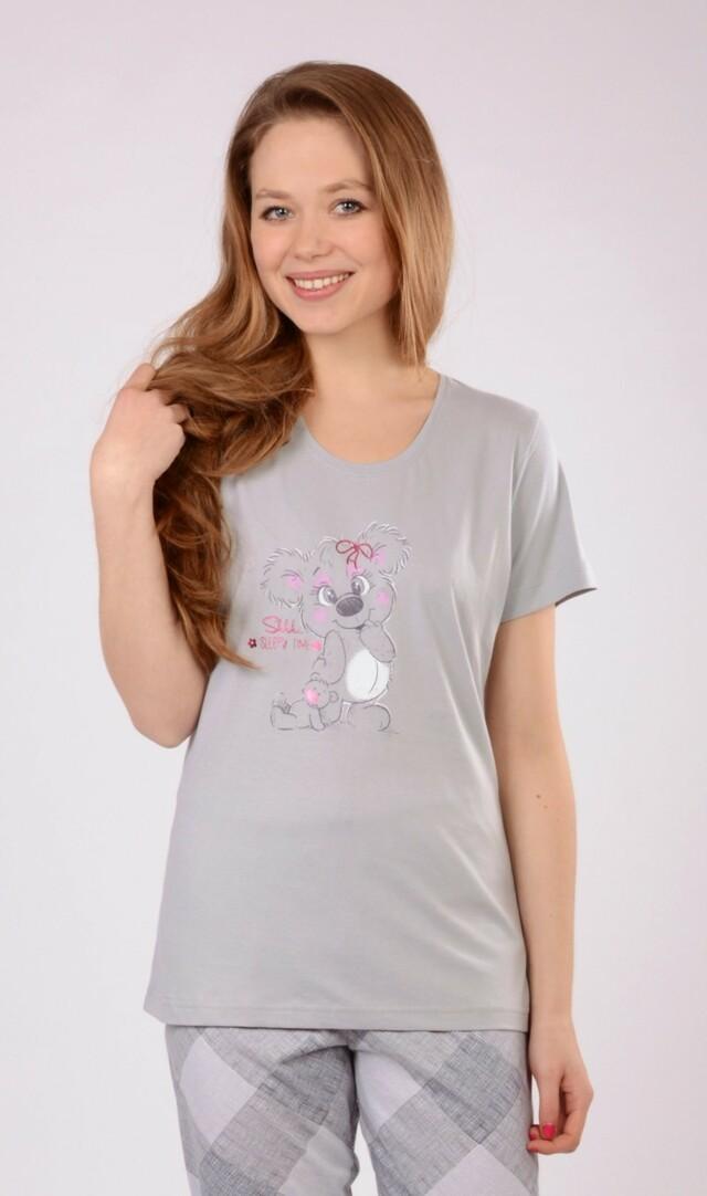 Dámské pyžamo kapri Koala - světle růžová M