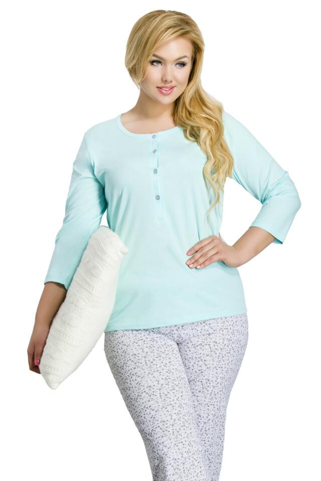 Dámské pyžamo Tereza modré - XXL