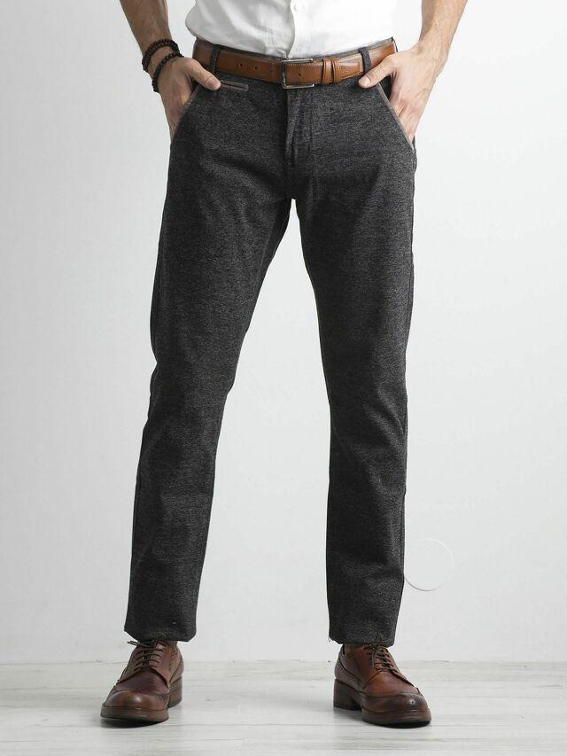 Pravidelné šedé pánské kalhoty - 29