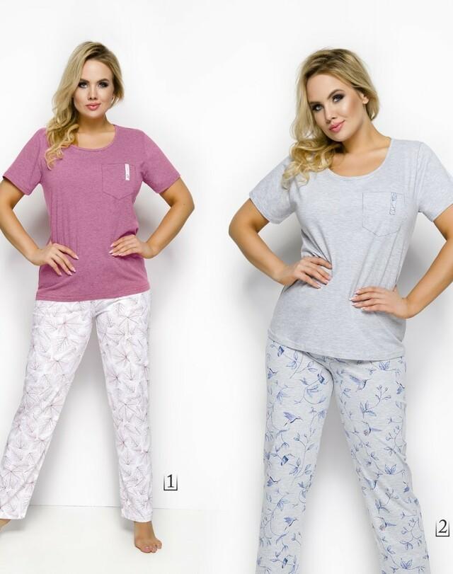 2244 Dámské pyžamo OLA 2XL-3XL - 2XL