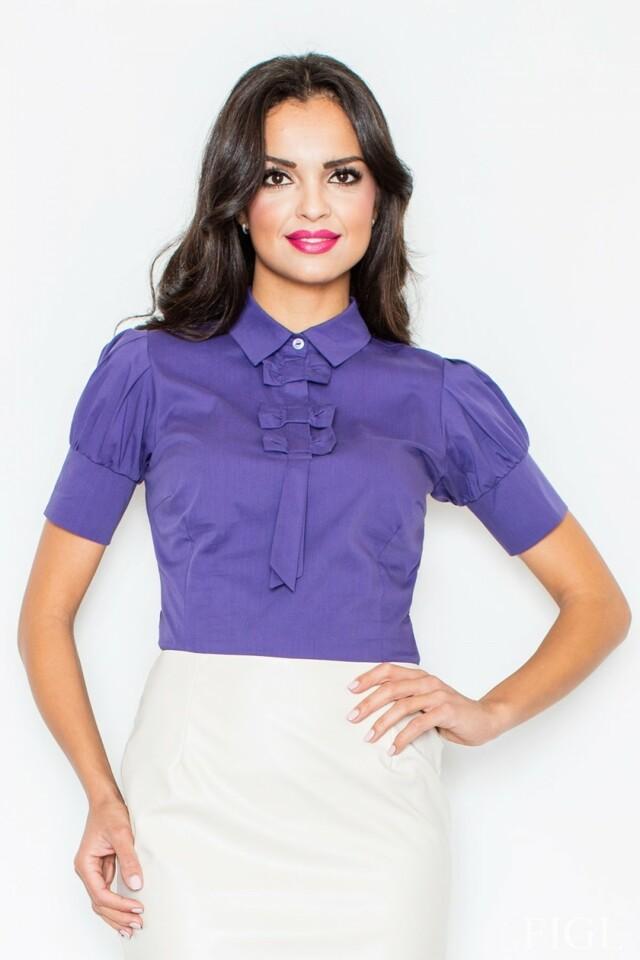 Dámská košile M008 dark violet - XL - fialová