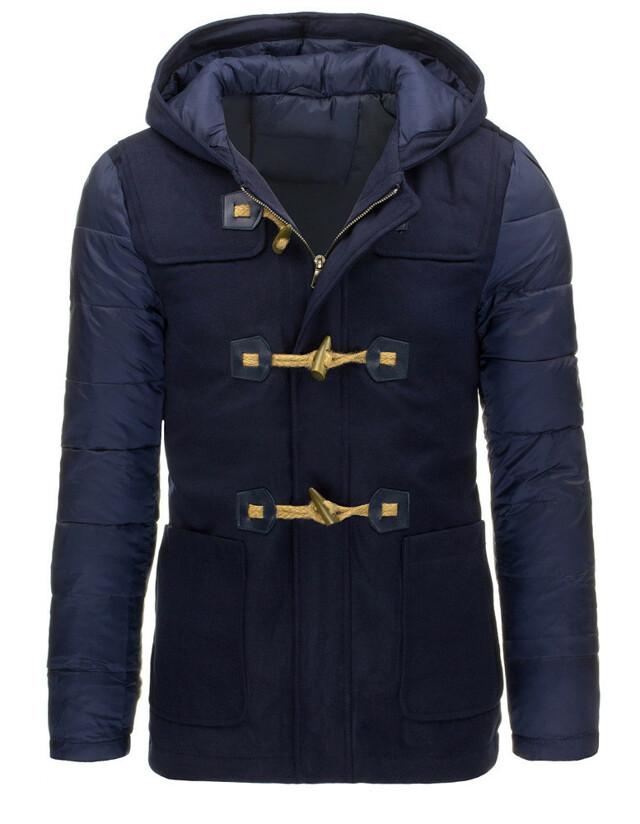 Pánský zimní kabát A-83937 (tx1364) - Bosline - L - granátová