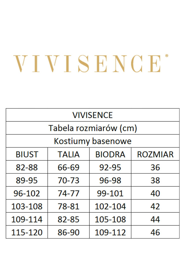 Jednodílné plavky Vivisence 3404 - - šedá