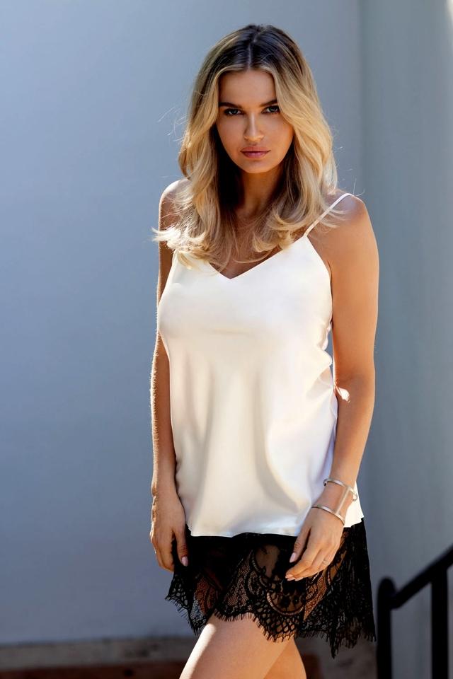 Dámská košilka Chanelle ecru - L - krémová