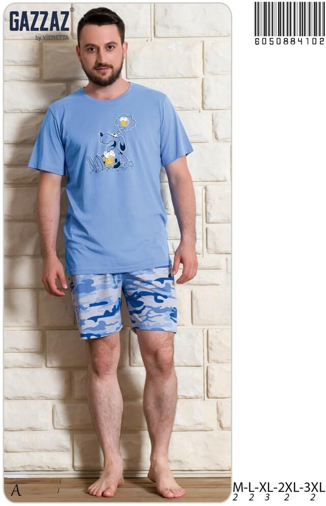 Pánské pyžamo šortky Pes s pivem