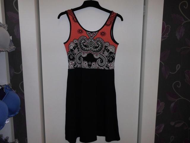 Dámské šaty 3261 -Vamp - S - černá vzor