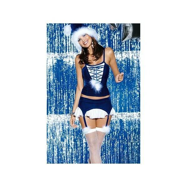 Vánoční kostým Snowflake corset - Obsessive - S/M
