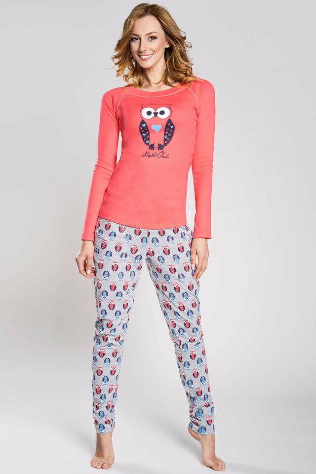 Dámské pyžamo Italian Fashion Lezly - M - malina