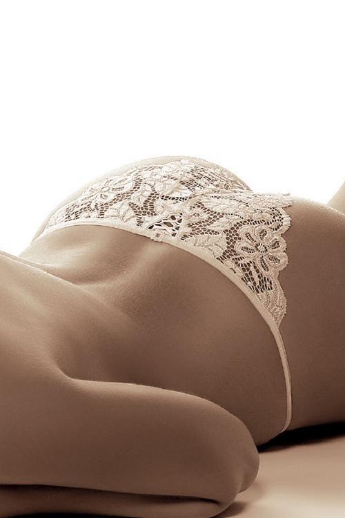 Dámské kalhotky Sarina white - XL - bílá